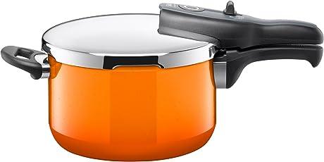 Silit Sicomatic t-plus Schnellkochtopf 4,5l ohne Einsatz Ø 22cm orange Passion Orange Made in Germany Innenskalierung Silargan Funktionskeramik induktionsgeeignet