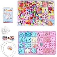 Queta Perles de Bricolage DIY Loisirs Créatif Colliers pour Enfants Jeux éducatifs et scientifiques Kits de Perles…