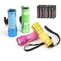 EverBrite 4 Pezzi Torce Elettriche LED Portachiave, Torcia Portatile Set, Pile della Luce per Campeggio, Escursioni…
