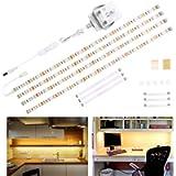 Wobane Under Cabinet Lighting Kit,Flexible LED Strip Lights Bar,Under Counter Lights for Kitchen,Cupboard,Desk,Monitor…