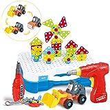 SYOSIN 325 Stücke Steckspiel Bohrmaschine Mosaik Spielzeug Bohrer STEM Schrauben Kreatives DIY Werkzeuge Spielzeug…