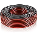 MANAX Câble de Haut-Parleur Rouge/Noir 2 x 2,5 mm Bobine de 30 m