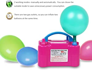 Skyfun 2 Nozzles High Power Portable Electric Balloon Inflator