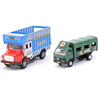 Centy Toys Public Truck - (Color may vary) & Army Truck DCM, Multi Color Combo