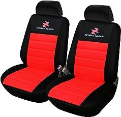 WOLTU AS7257-2 2er Sitzbezüge für Auto Einzelsitzbezug vordere Schonbezüge Sitzbezug Schoner, Komplettset, rot