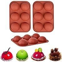 Lot de 3 moules à chocolat en silicone pour faire des bombes de chocolat chaud, des gâteaux, de la gelée, de la mousse…