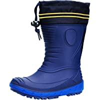 AQUAZON Classic Stivali di Gomma per Bambini, Rain Boots, Stivali da Pioggia, Foderati in Vera Lana di Pecora (80…