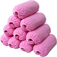 logei® 100pz Copertura di Scarpe Monouso TNT(Tessuto Non Tessuto) Copriscarpe (Rosa)