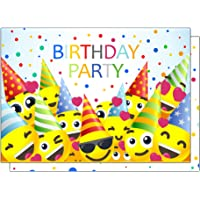 the lazy panda card company 15 Funny Smilies Birthday Invitations for Children or Smiley Enthusiasts (With Envelopes)