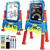 AMOSTING Chevalet pour Enfants Chevalet d'art pour Tout-Petits avec Tableau Blanc magnétique et Tableau Noir, Planche à…