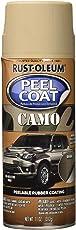 Rust-Oleum 300840 Automotive Peel Coat Camo Flat Non Reflective Spray Paint (Khaki - 312 Grams)