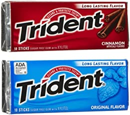 Trident Combo Original and Cinnamon Flavour 18 Stick