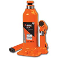Groz 4 Ton Hydraulic Bottle Jack with Load Limiting Device | Ideal for use with Cars, Mini Trucks, MUVs, SUVs, LCVs, etc…