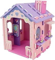 Sunta H.TRF Printed DIY Girl Doll House, Multi Color
