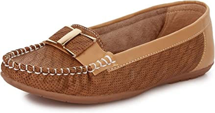TRASE Women's Synthetic Leather Loafers
