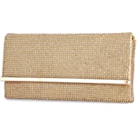 Selighting Damen Clutch Tasche Elegant Abendtasche Handtasche Kettentasche für Party Hochzeit (Gold)