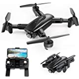 SNAPTAIN SP500 GPS 5G WiFi Transmission FPV Drone with 1080P HD Camera, Foldable Drone for Beginners and Adults, RC Quadcopter with GPS Return Home, Follow Me, Gesture Control, Circle Fly, Auto Hover