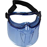 KleenGuard™ V90 Shield Safety Goggles with Face Shield (18629), Anti-Fog, Scratch-Resistant and Clear Lens with Blue…