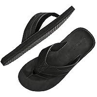 ARRIGO BELLO Infradito Uomo Ciabatte Pelle Avanzata Sandali Estive Morbido Pantofole Spiaggia Piscina All'aperto Taglia…