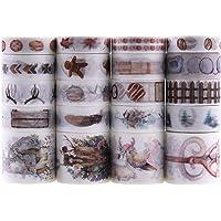 Lychii Washi Tape Set, 20 Rouleaux Ruban Adhésif Décoratif Masking Tapes pour Arts, Bullet Journal, Scrapbooking…