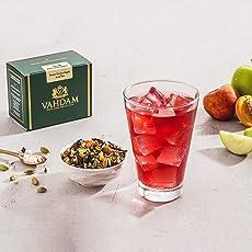 VAHDAM Pfirsich Grüner Apfel Eistee | 40 Portionen, 8 Quarts | 100% natürliche Inhaltsstoffe | Köstliches Aroma von Oolong - Tee und tropischen Früchten Pfirsich Eistee | Eistee Loose Leaf | 3,53 Unzen (2er Set)