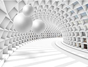 Fototapete 3D   Kugel Weiß 396 X 280 Cm Vlies Wand Tapete Wohnzimmer  Schlafzimmer Büro Flur