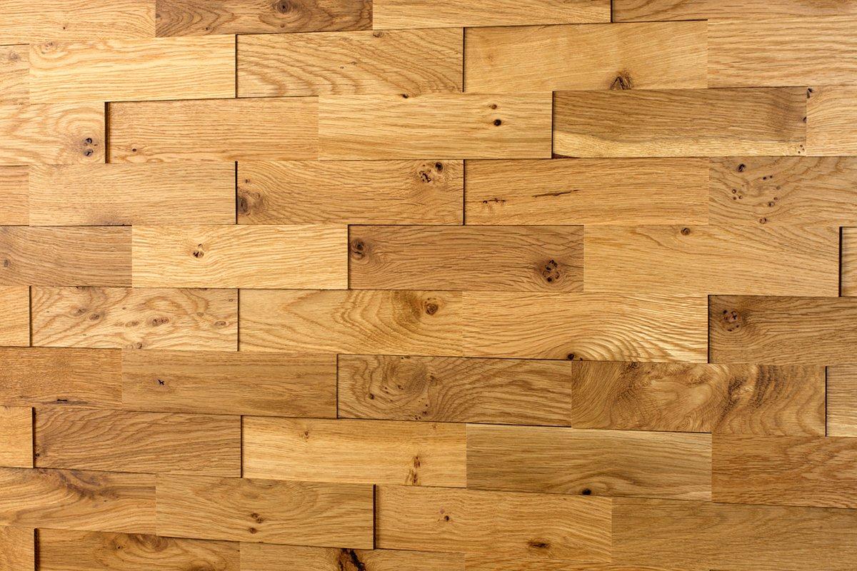 Holz Wandverkleidung Eiche Rustikal 3D-Optik | 1m² Holzpaneele ...