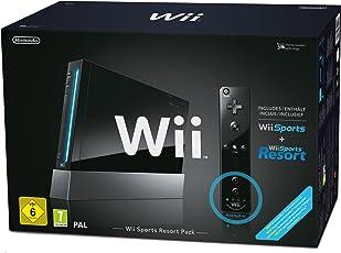 """Nintendo Wii """"Sports Resort Pack"""" - Konsole inkl. Wii Sports, Wii Sports Resort + Remote Plus Controller, schwarz"""
