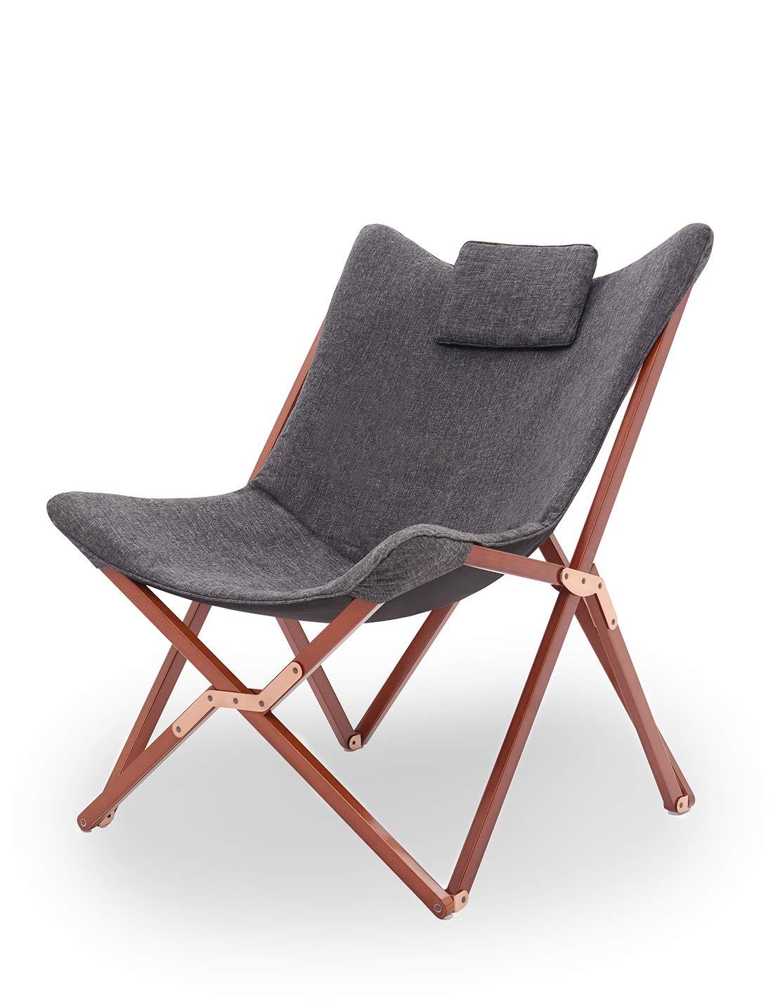 Suhu Klappstuhl Camping Stuhl Lounge Sessel Modern Design Retro Stuhle Liegestuhl Klappbar Gartenliege Auflagen Hochlehner Tv Relaxliege Mit