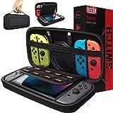 Orzly Tragetasche kompatibel mit Nintendo Switch – Aufbewahrungstasche / - Hartschalen Case/Cover/Hülle/Schutzhülle für…