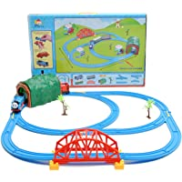 Chords Classic Kids Cartoon Musical Toy Train with Track Set XXL Size with Bridge and Tunnel