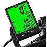 Fahrradcomputer Drahtlos Wasserdicht, 20 Funktionen LCD Geschwindigkeit Fahrradtacho Radcomputer Kilometerzähler Hintergrundbeleuchtung Tachometer (Kabellos & mit Kabel)