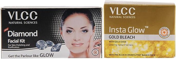 VLCC Diamond Facial Kit and Insta Glow Bleach Combo
