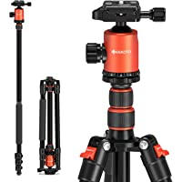 GEEKOTO Stativ Kamera Stativ 200cm, Aluminum Reisestativ mit Einbeinstativ und 360° Panorama Kugelkopf, 1/4…