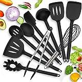 Modrad Ustensiles de Cuisine en Silicone Set D'accessoires de Cuisine 10 Pcs Kit Multiples Ensemble Anti-Rayures et Résistant