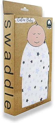 Müslin Bezi Örtü Yıldız Desen%100 Pamuk Bebeğinizin Cildi Kadar Hassas Özel Müslin Bezi 4 Adet Ağız Mendili Hediyeli (Mavi)