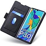 Huawei P30 Fodral, Huawei P30 Fall, Mobilskal Huawei P30 med Korthållare, Magnetisk Stängning, Ställ, Hülle/Handyhülle/Schutz