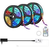 15m Tiras LED,OxyLED Luces 450 LED Multicolor RGB 5050 con Control Remoto por Infrarrojos de 20 botón,Tira LED Función Musica