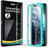 ESR Pellicola Compatibile con iPhone 11 PRO,XS,X, 2 Pezzi, Cornice per Installazione facilitata, Vetro Temperato con Face ID