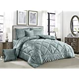 Ming Li Winter Velvet Comforter 6 Piece Set, King Size