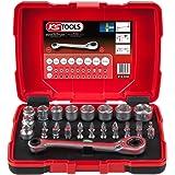 """KS Tools 918.3050 1/4"""" + 11 mm doorgangs-steeksleutel- en bitset, 31-delig, doorgangs-steeksleutel/steeksleutelset/steeksleut"""
