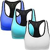 ANGOOL Sujetador Deportivo Almohadillas Extraíbles Yoga Run Bra para Mujer