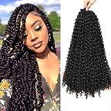 Passion Twist Hair, 7 packs Meches Crochet Braids, Vague Eau Crochet Tresses, Passion Twist Crochet Cheveux, Passion Twist Tr
