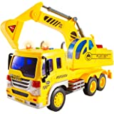 HERSITY Graafmachine Vrachtwagen Speelgoed Bouwvoertuigen Kinderspelletjes voor Kinderen