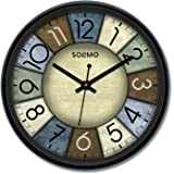 Amazon Brand - Solimo 12-inch Wall Clock - Knight Time (Silent Movement)