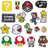 17 piezas Parches de planchado para videojuegos de Super Mario Bros, parches bordados, parches para coser en ropa, chaquetas,