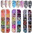 36 kleureHolografische Nagel Glitter, Kalolary Nagel pailletten Glitter nagel pailletten DIY Manicure Nagel Art Tips