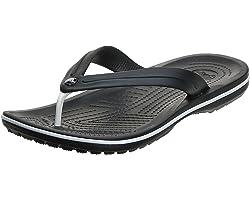 Crocs Crocband Flip, Zapatillas Unisex Adulto, Negro (Black), 46/47 EU