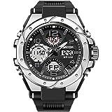 RORIOS Digitale Orologio per Uomo Orologi da uomo sportivo impermeabile militare orologio con sveglia cronometro all' aria ap