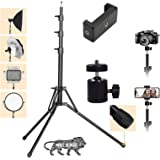 Amazing Products 7 Feet Big Tripod Stand for Mobile and Camera Adjustable Aluminium Alloy Big Tripod Stand Holder,Photo/Video